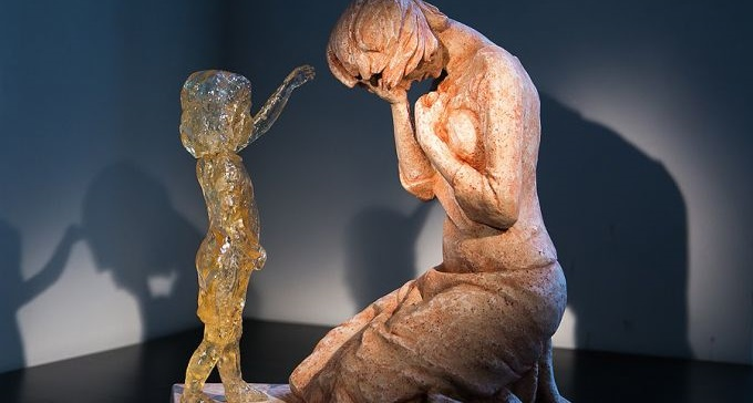 Memorial das crianças não nascidas escultura pró-vida